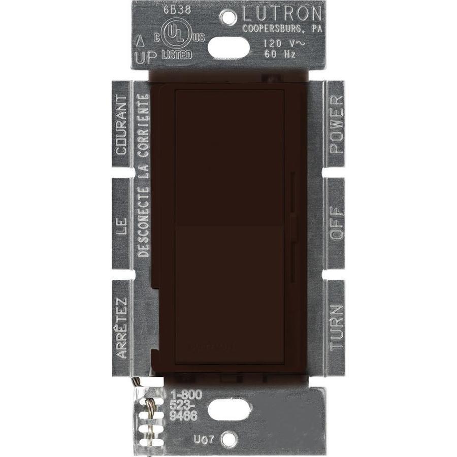 Lutron Diva 3-Speed 1.5-Amp Brown Indoor Slide Fan Control