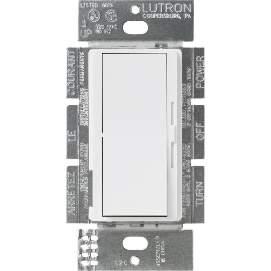 Lutron Diva 3-Speed 1.5-Amp White Indoor Slide Fan Control