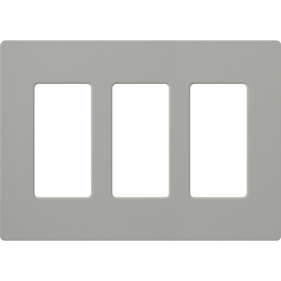 Lutron Claro 3-Gang Gray Triple Decorator Wall Plate
