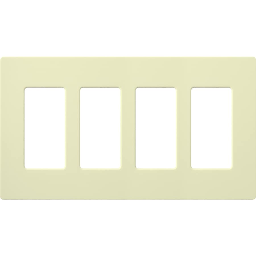 Lutron Claro 4-Gang Almond Quad Decorator Wall Plate