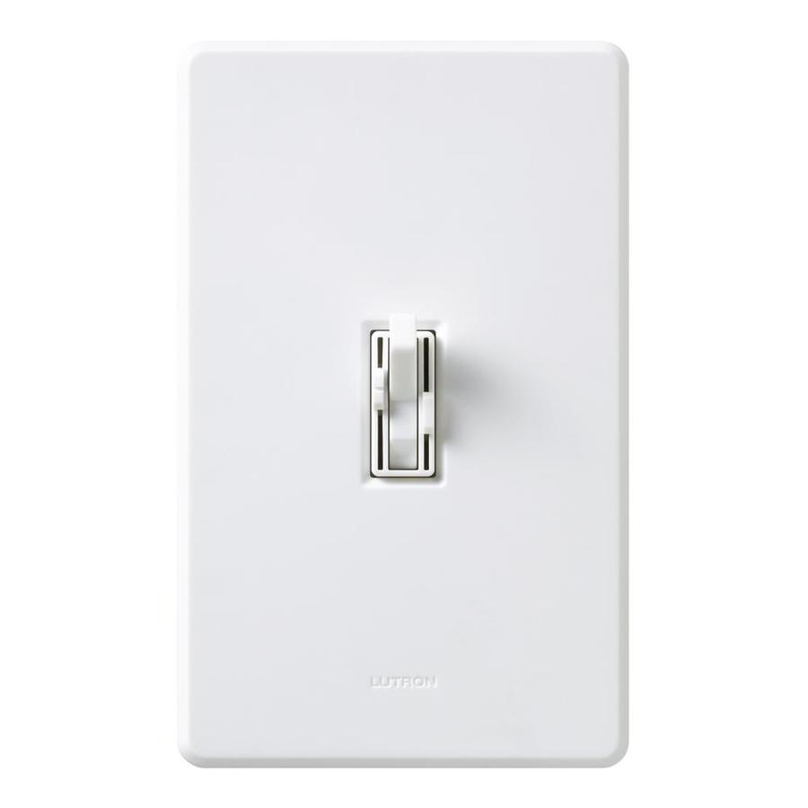 Lutron Toggler 1.5-Amp Single Pole White Indoor Toggle Combination Dimmer and Fan Control