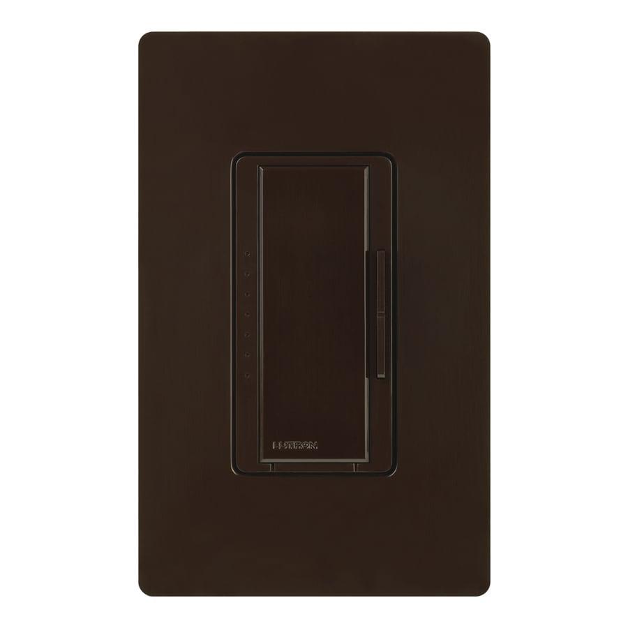 Lutron Maestro 600-Watt Double Pole 3-Way/4-Way Brown Tap Indoor Dimmer