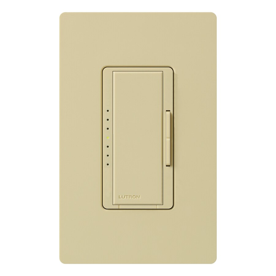Lutron Maestro 600-Watt Double Pole 3-Way/4-Way Ivory Tap Indoor Dimmer