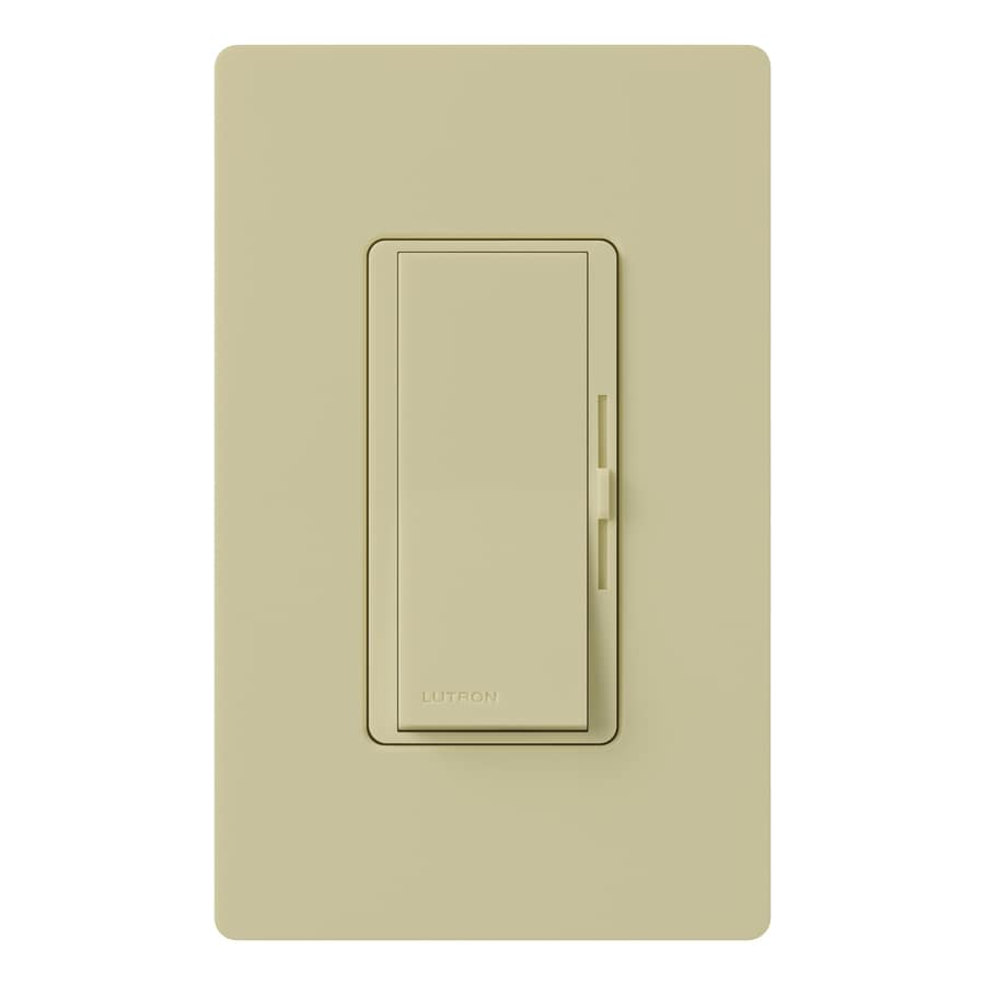 Lutron Diva 300-Watt Single Pole Ivory Indoor Dimmer