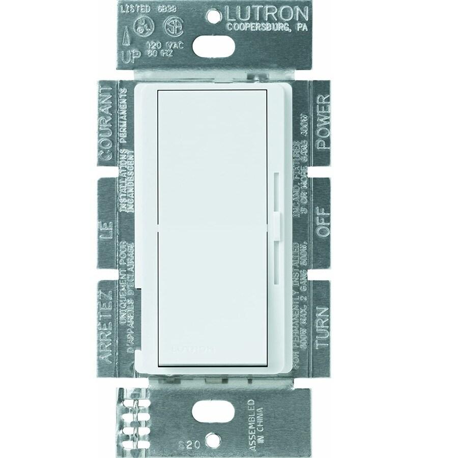 Lutron Diva 300-watt Single Pole 3-way White Indoor Dimmer