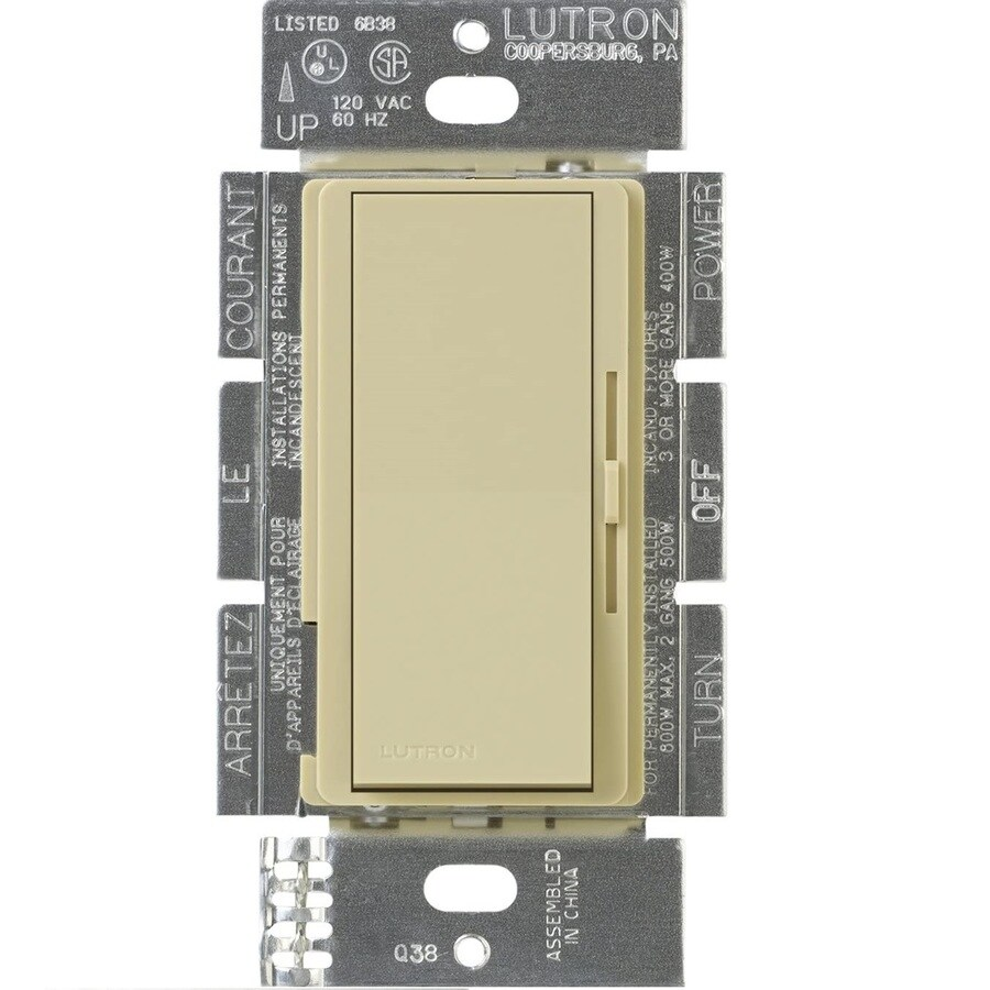Lutron Diva 300-watt Single Pole 3-way Ivory  Indoor Dimmer