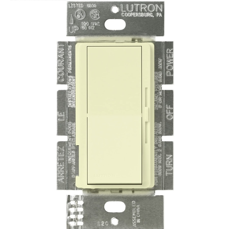 Lutron Diva 0-Switch 300-Watt Single Pole 3-Way Almond Indoor (Control) Dimmer