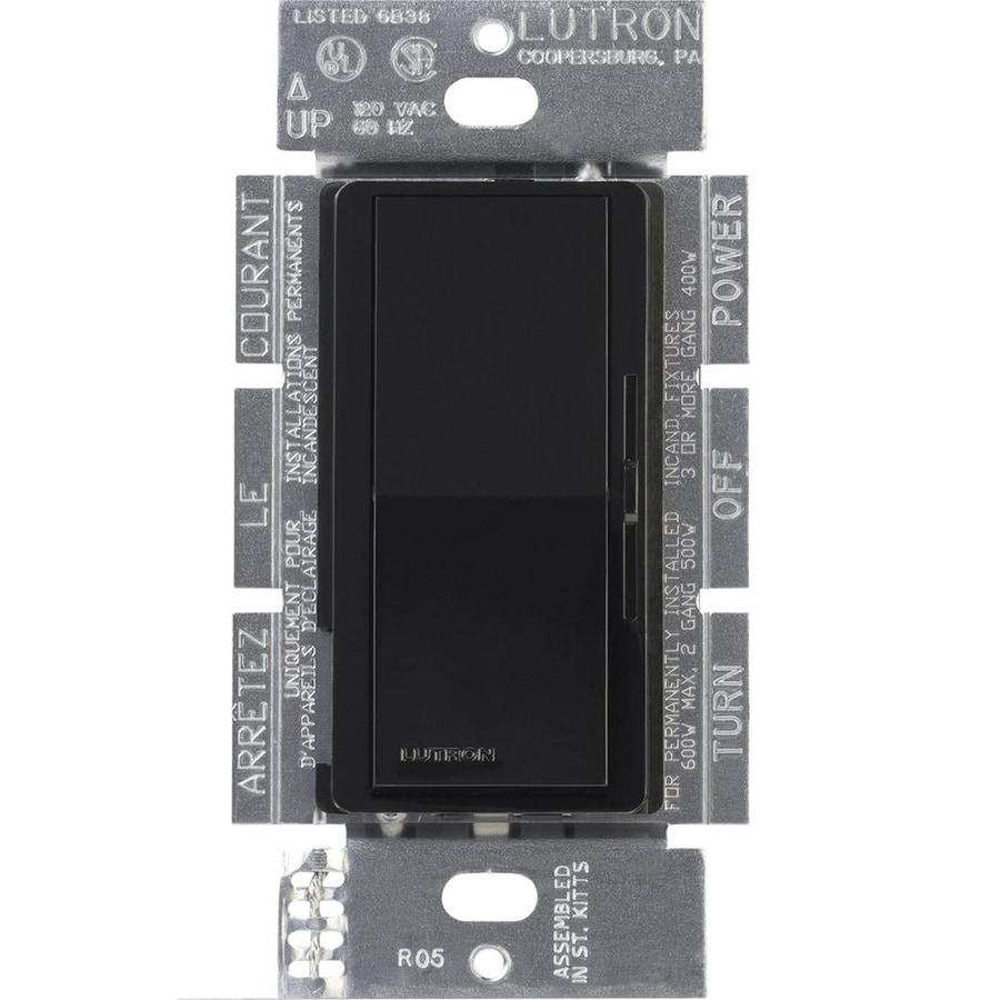 Lutron Diva 300-Watt Single Pole 3-Way Switch Black Indoor Dimmer
