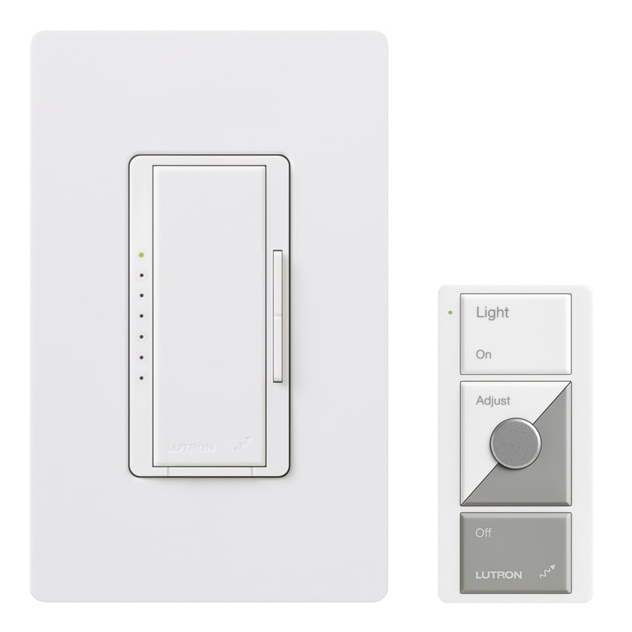 Lutron Maestro Wireless 600-Watt Single Pole Wireless White Indoor Remote Control Dimmer