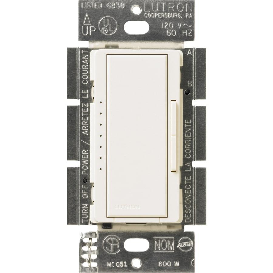 Lutron Maestro 600-Watt Double Pole 3-Way/4-Way Biscuit Indoor Tap Dimmer