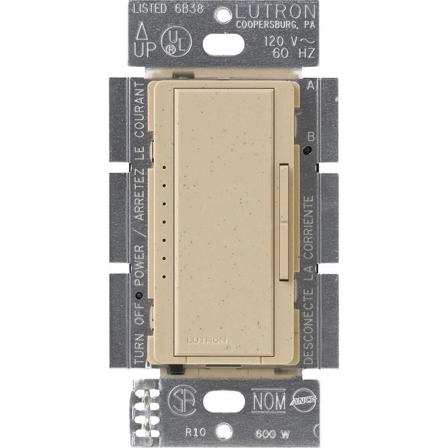 Lutron Maestro 600-Watt Double Pole 3-Way/4-Way Desert Stone Indoor Tap Dimmer