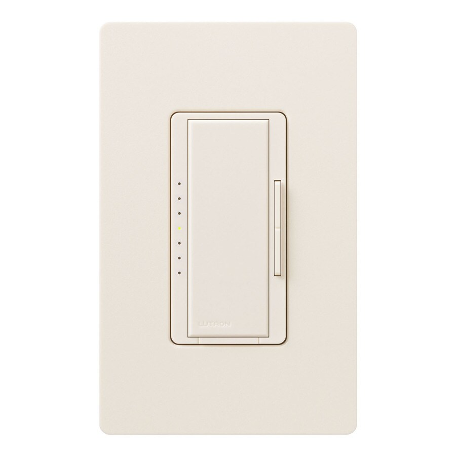 Lutron Maestro 600-watt Double Pole 3-way/4-way Eggshell Tap Indoor Dimmer