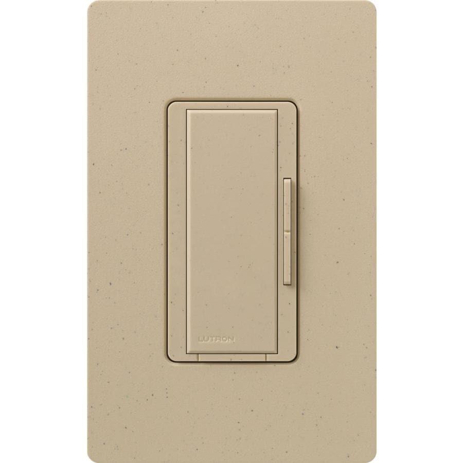 Lutron Maestro 1000-watt 3-way/4-way Desert Stone Tap Indoor Dimmer