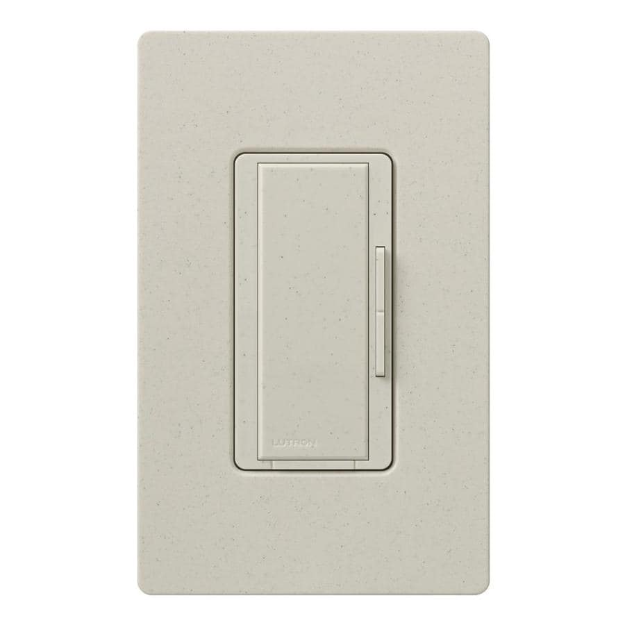 Lutron Maestro 1,000-Watt 3-Way/4-Way Limestone Indoor Tap Dimmer