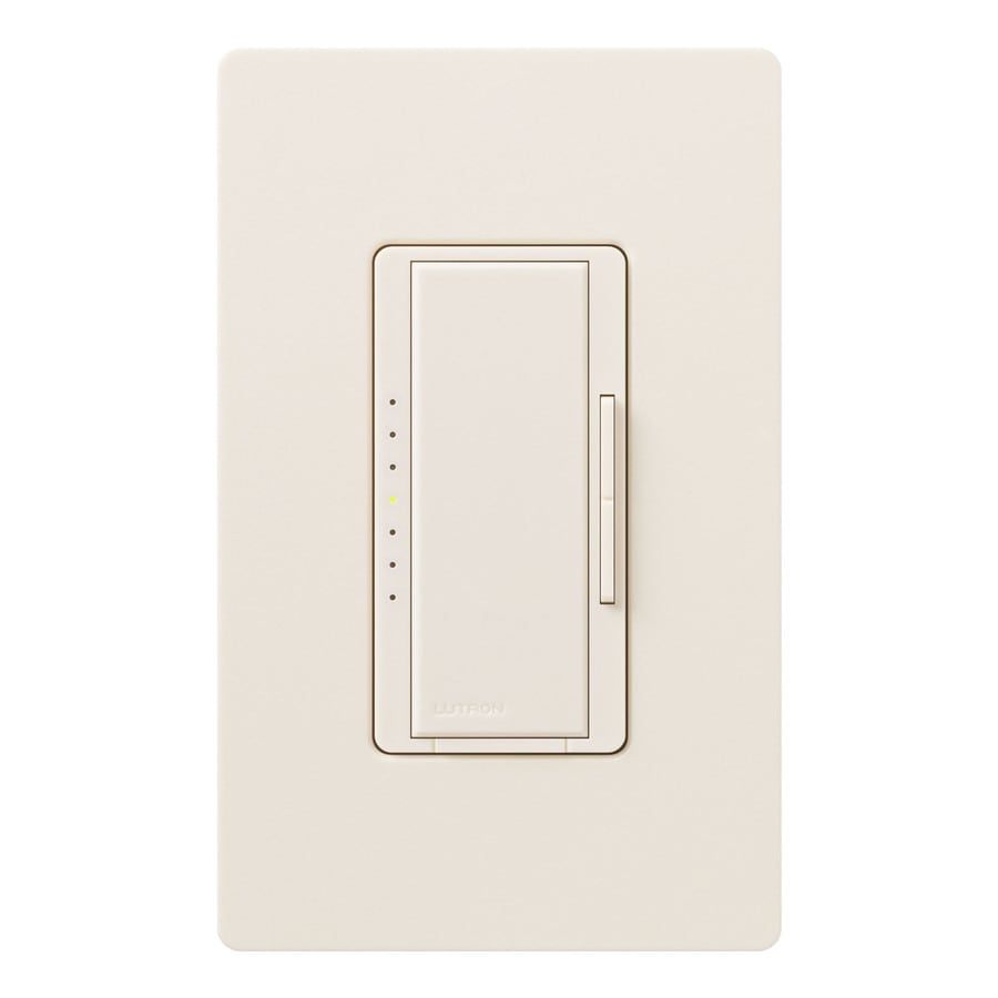 Lutron Maestro  1000-watt Double Pole 3-way/4-way Eggshell Tap Indoor Dimmer