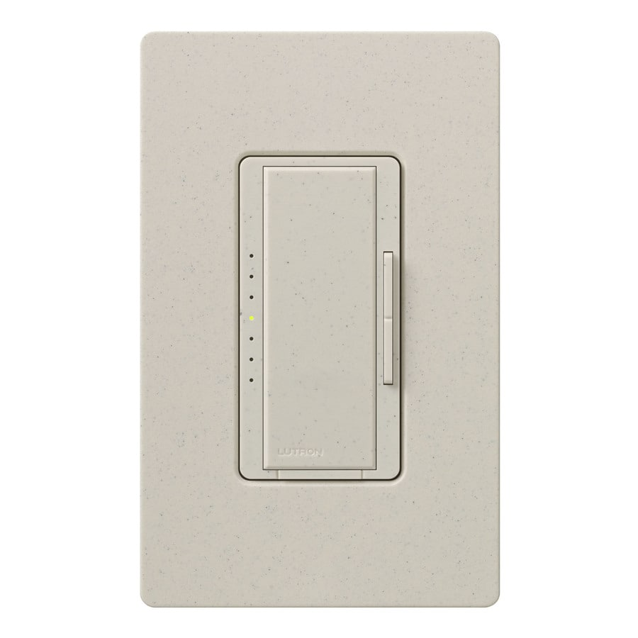 Lutron Maestro 1000-Watt Double Pole 3-Way/4-Way Limestone Tap Indoor Dimmer