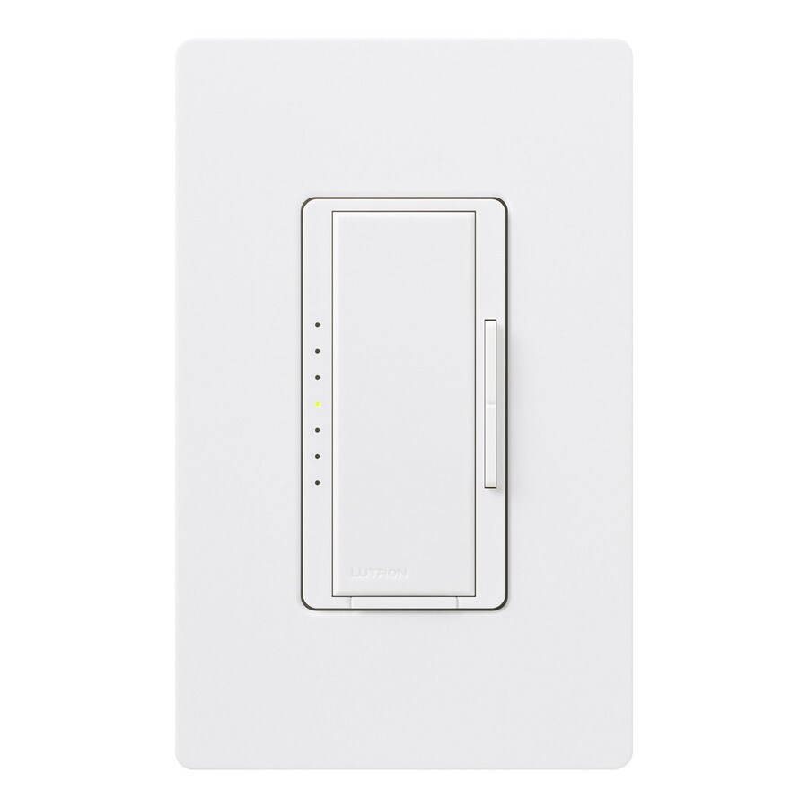 Lutron Maestro 1,000-Watt Double Pole 3-Way/4-Way Snow Indoor Tap Dimmer