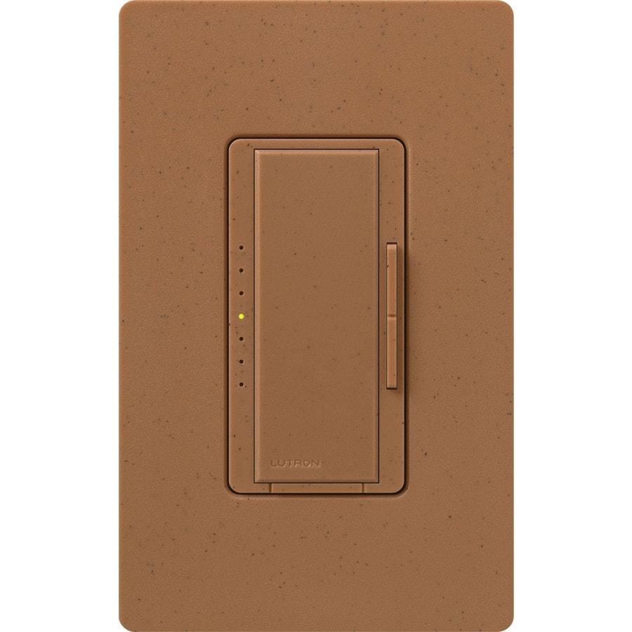 Lutron Maestro 1,000-Watt Double Pole 3-Way/4-Way Terracotta Indoor Tap Dimmer