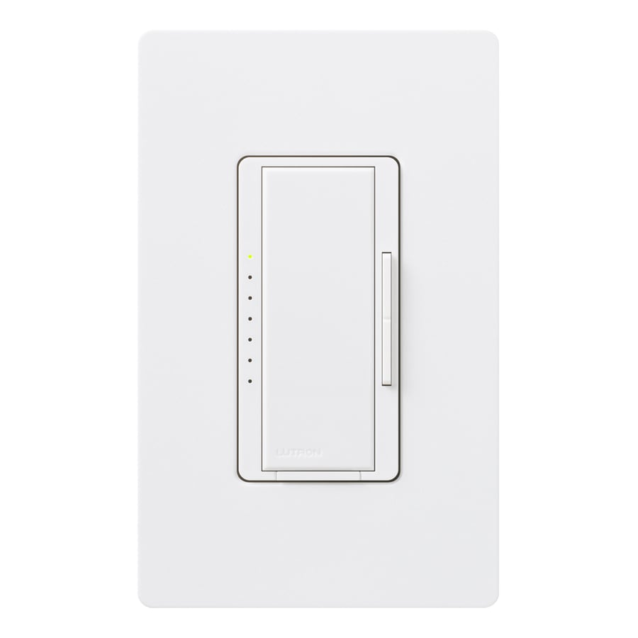 Lutron Maestro 600-Watt Double Pole 3-Way/4-Way Snow Indoor Tap Dimmer