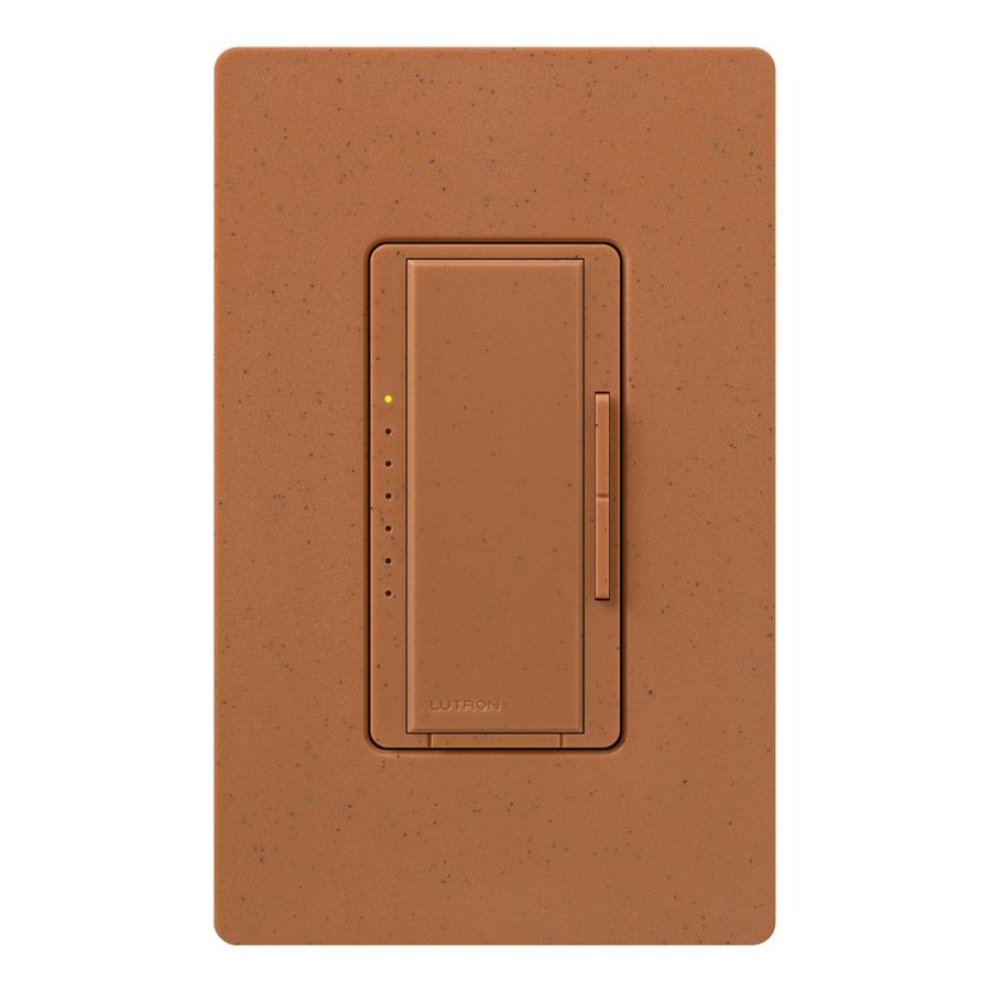 Lutron Maestro 600-Watt Double Pole 3-Way/4-Way Terracotta Indoor Tap Dimmer