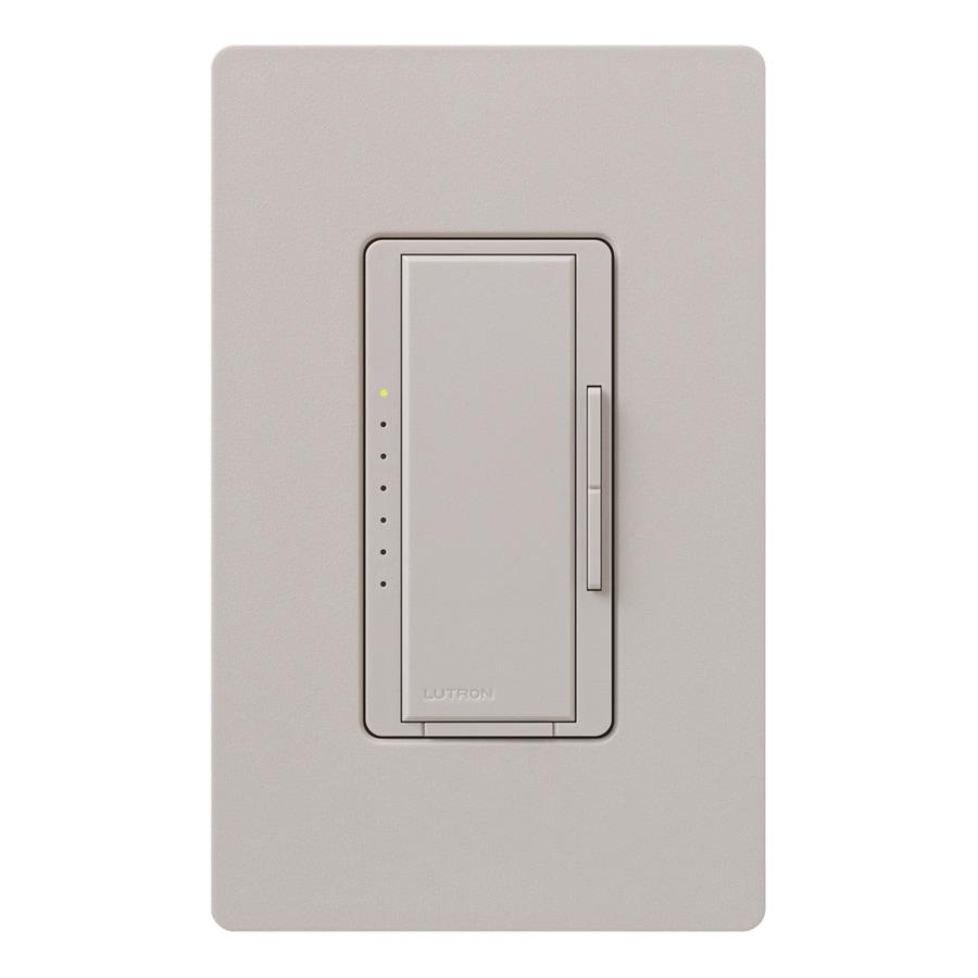 Lutron Maestro 600-Watt Double Pole 3-Way/4-Way Taupe Indoor Tap Dimmer