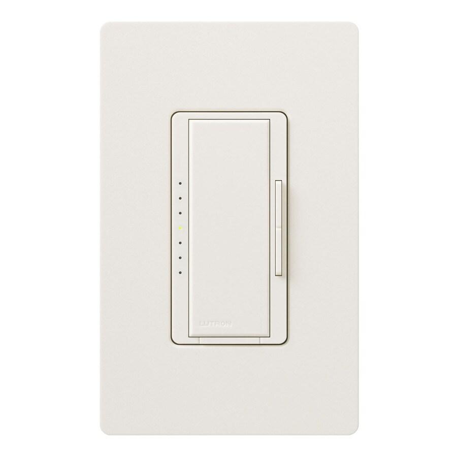 Lutron Maestro 800-Watt Double Pole 3-Way/4-Way Biscuit Tap Indoor Dimmer