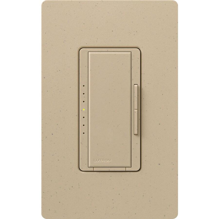 Lutron Maestro 800-watt Double Pole 3-way/4-way Desert Stone Tap Indoor Dimmer