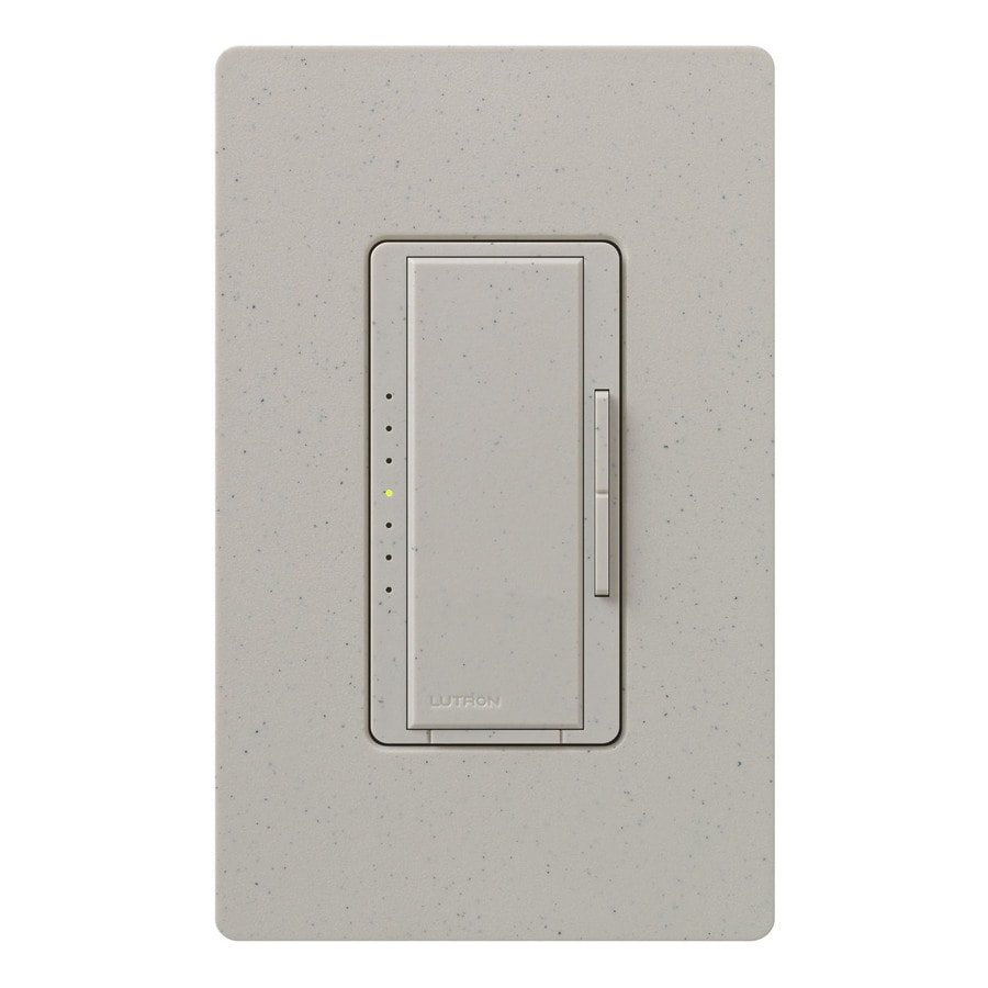 Lutron Maestro 800-Watt Double Pole 3-Way/4-Way Stone Indoor Tap Dimmer