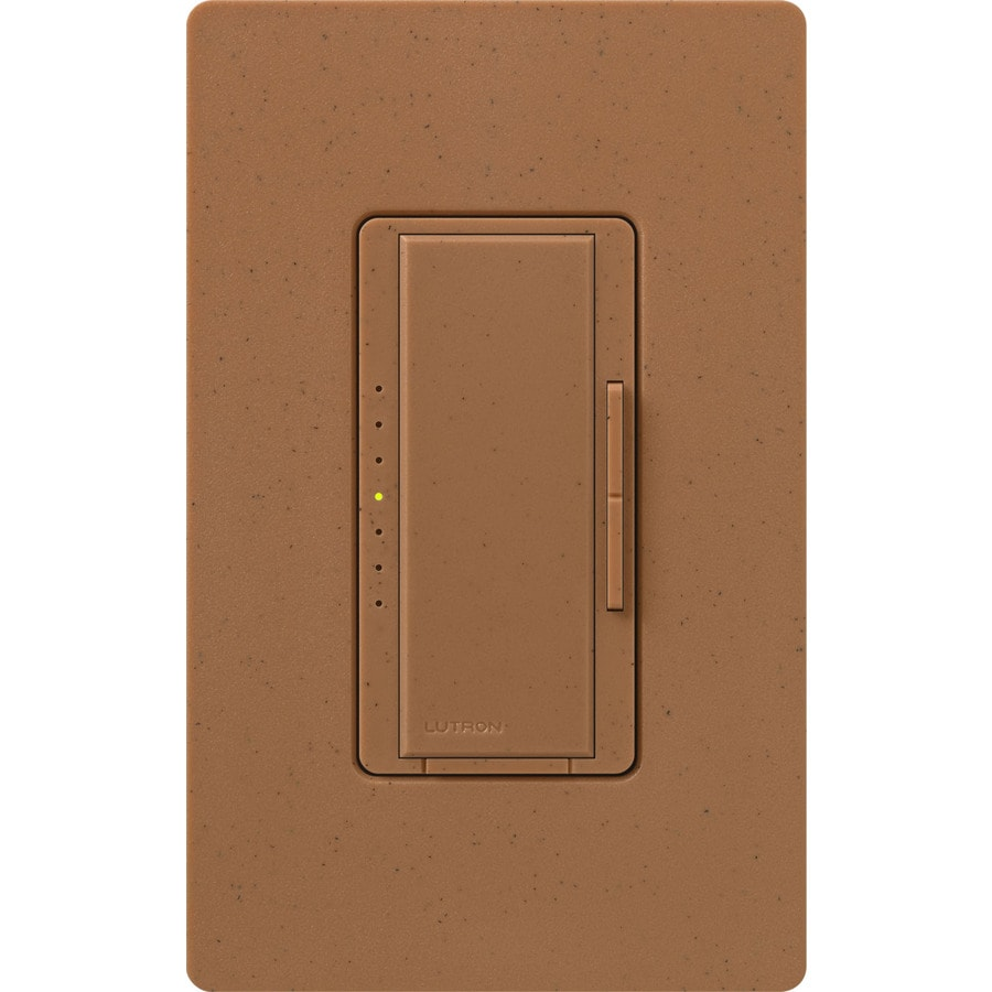 Lutron Maestro 800-Watt Double Pole 3-Way/4-Way Terracotta Indoor Tap Dimmer