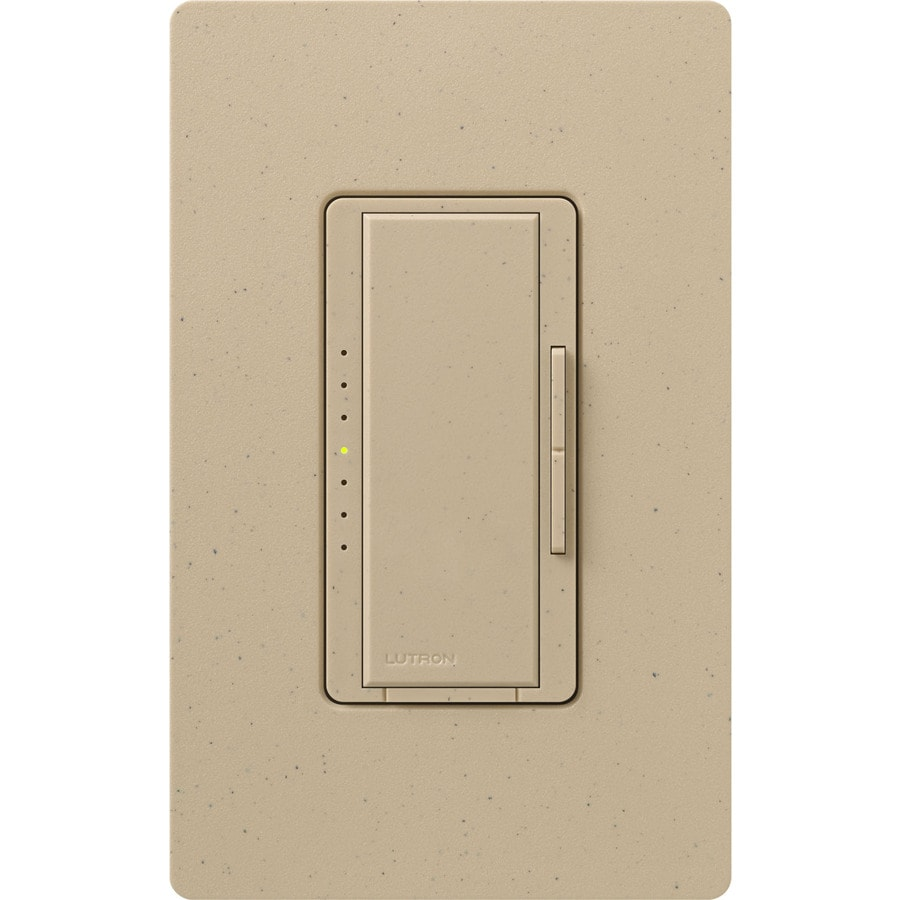 Lutron Maestro 450-Watt Double Pole 3-Way/4-Way Desert Stone Indoor Tap Dimmer