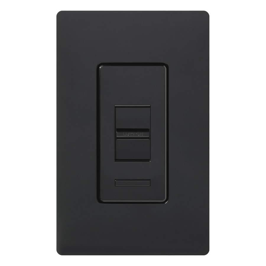 Lutron Lumea 150-Watt Single Pole 3-Way Black Indoor Dimmer