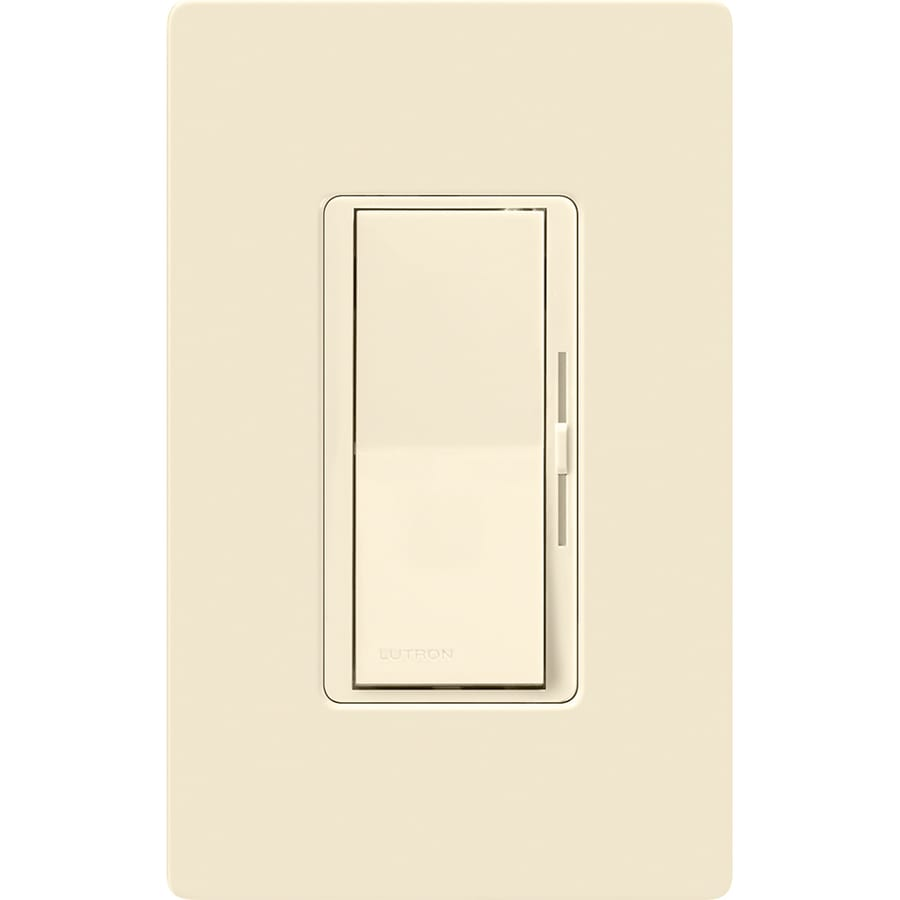 Lutron Diva 150-Watt Single Pole 3-Way Switch Almond Indoor Dimmer