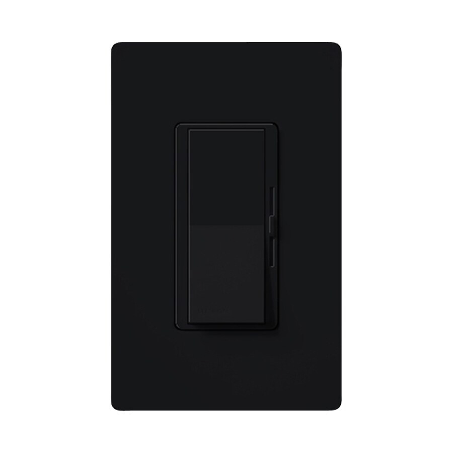 Lutron Diva 600-Watt Single Pole 3-Way Switch Black Indoor Dimmer