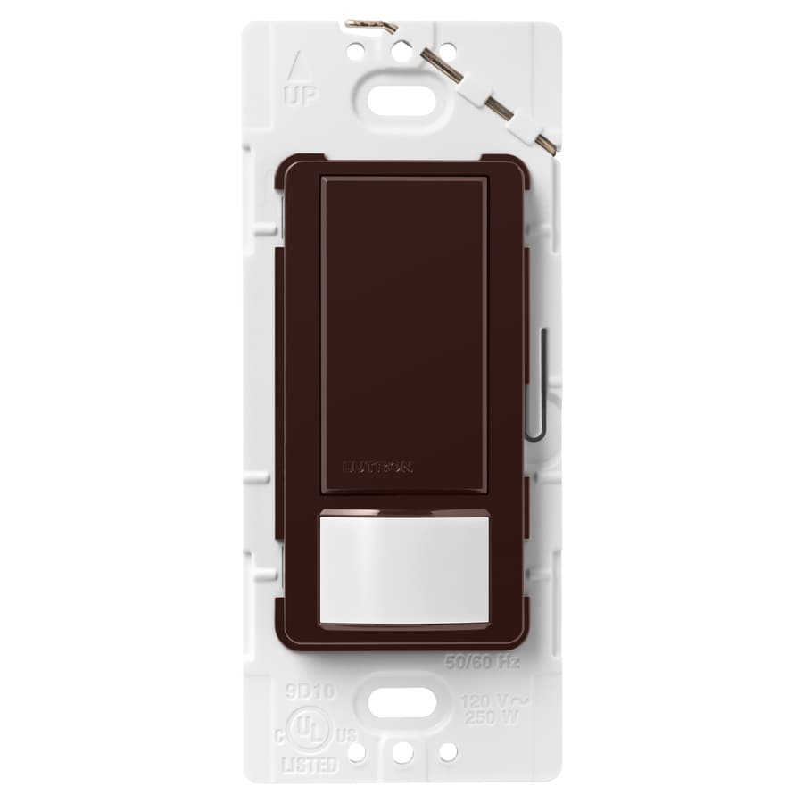 Lutron Maestro 2-Amp Single Pole Brown Indoor Motion Occupancy/Vacancy Sensor