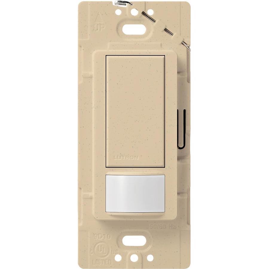 Lutron Maestro 1-Switch 2-Amp Single Pole Desert Stone Motion Occupancy/Vacancy Sensor