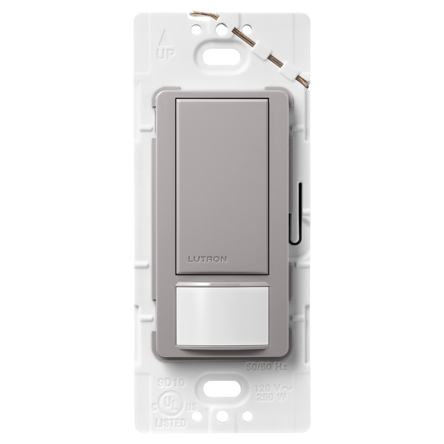 Lutron Maestro 2-Amp Single Pole Gray Indoor Motion Occupancy/Vacancy Sensor