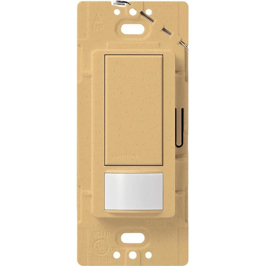 Lutron Maestro 2-Amp Single Pole Goldstone Indoor Motion Occupancy/Vacancy Sensor