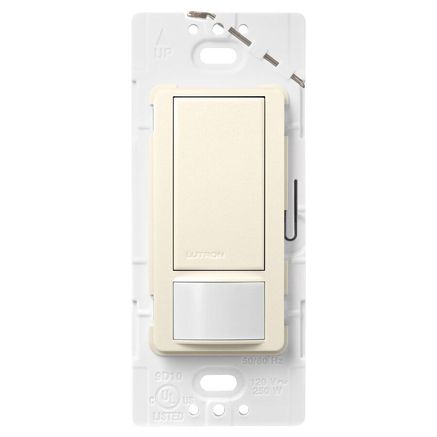 Lutron Maestro 5-amp Double Pole 3-way Biscuit Motion Indoor Occupancy/Vacancy Sensor