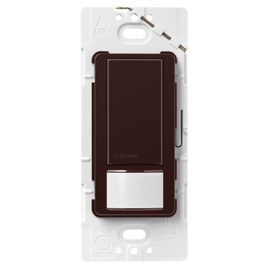 Lutron Maestro 5-amp Double Pole 3-way Brown Motion Indoor Occupancy/Vacancy Sensor
