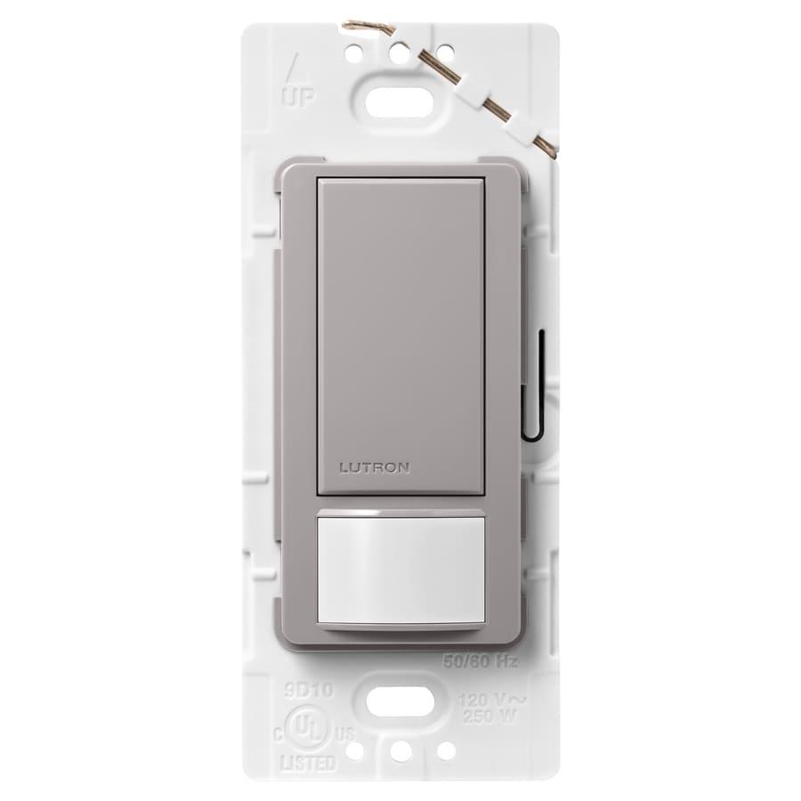 Lutron Maestro 5-Amp Double Pole 3-Way Gray Indoor Motion Occupancy/Vacancy Sensor