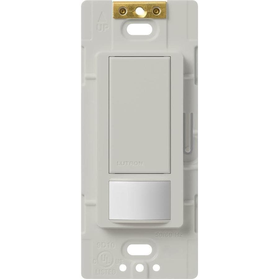 Lutron Maestro 5-Amp Double Pole 3-Way Palladium Motion Indoor Occupancy/Vacancy Sensor