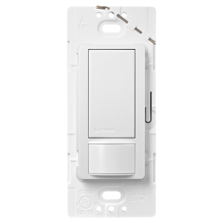 Lutron Maestro 5-amp Double Pole 3-way Snow Motion Indoor Occupancy/Vacancy Sensor