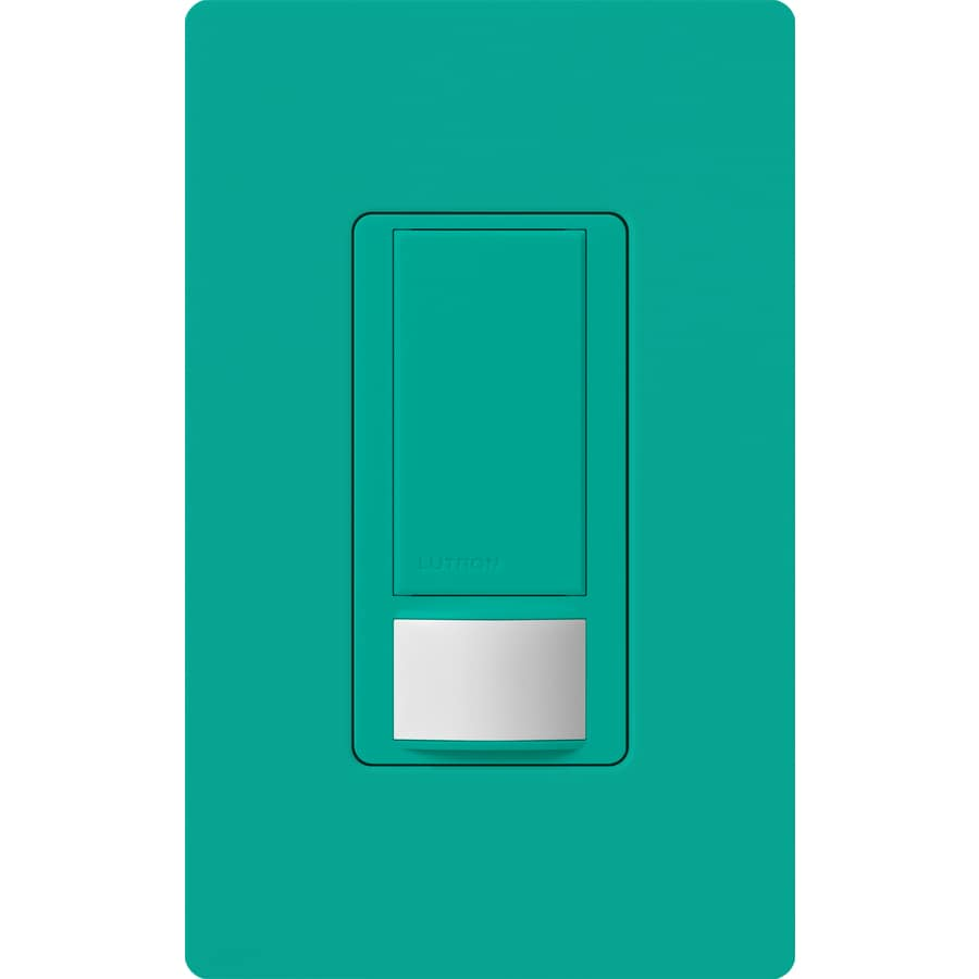Lutron Maestro 5-Amp Double Pole 3-Way Turquoise Indoor Motion Occupancy/Vacancy Sensor