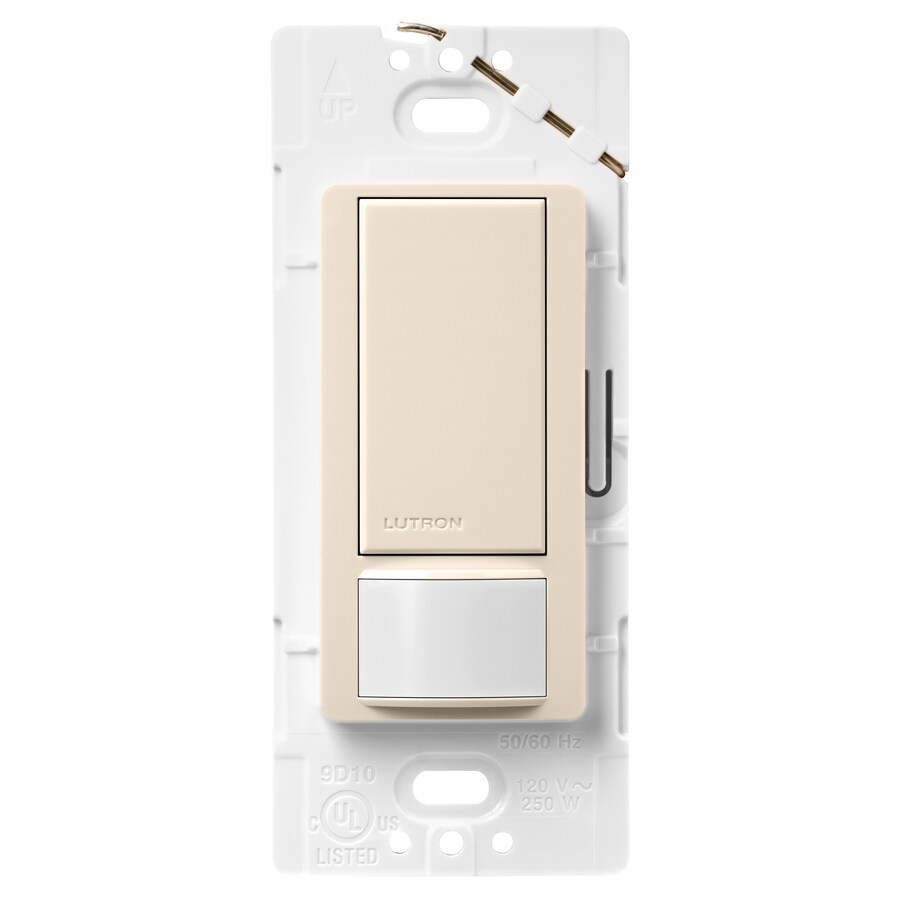 Lutron Maestro 5-Amp Double Pole 3-Way Light Almond Indoor Motion Occupancy/Vacancy Sensor