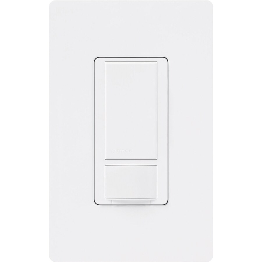 Lutron Maestro 1-Switch 5-Amp Double Pole 3-Way White Motion Vacancy Sensor