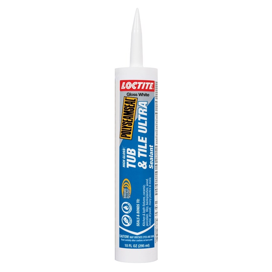 LOCTITE 10-oz White Paintable Tub and Tile Latex Kitchen and Bathroom Caulk