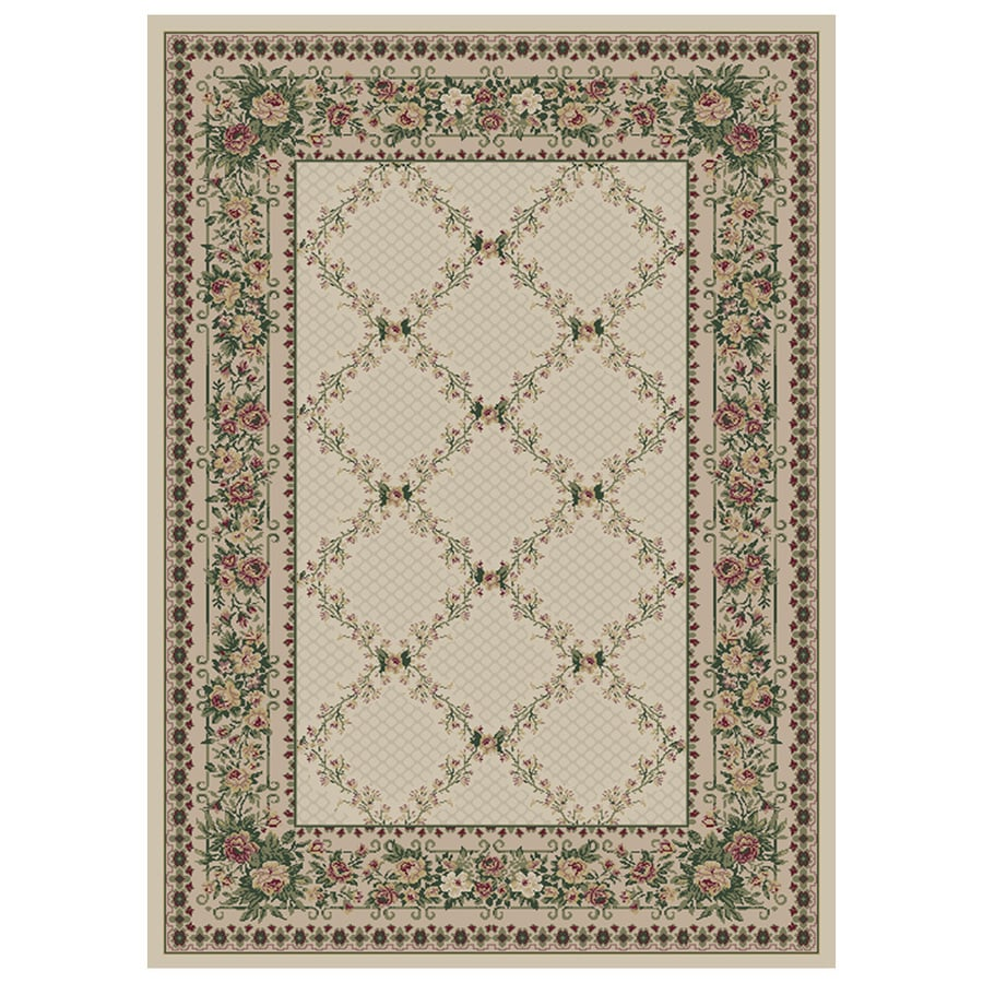 Orian Rugs Kennedy Cream Rectangular Indoor Machine-Made Area Rug (Common: 4 x 6; Actual: 3.92-ft W x 5.42-ft L)