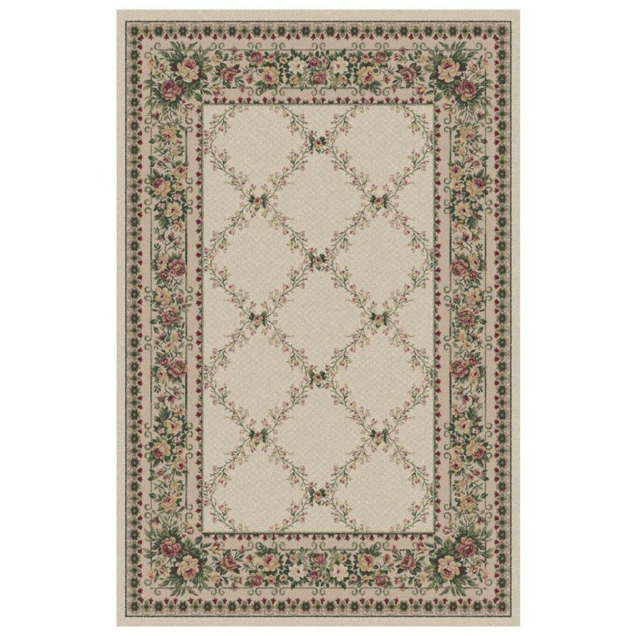 Orian Rugs Kennedy Cream Rectangular Indoor Machine-Made Area Rug (Common: 5 x 8; Actual: 5.25-ft W x 7.5-ft L)