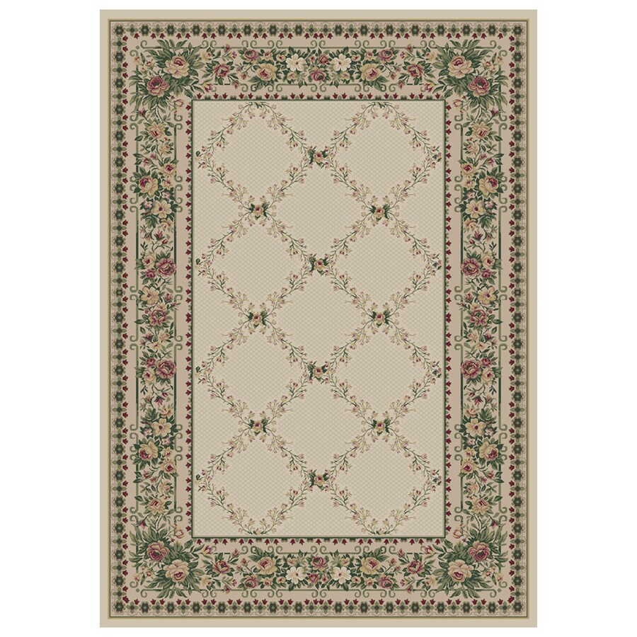 Orian Rugs Kennedy Cream Rectangular Indoor Machine-Made Area Rug (Common: 8X11; Actual: 7.83-ft W x 10.83-ft L)