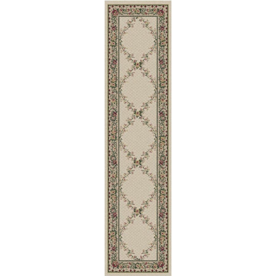 Orian Rugs Kennedy Cream Rectangular Indoor Machine-Made Runner (Common: 2X8; Actual: 1.92-ft W x 7.42-ft L)
